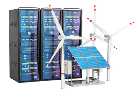 Renewables powering servers